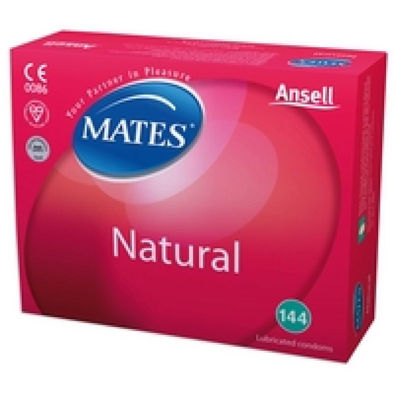 Mates Natural Condoms 144 Clinic Pack